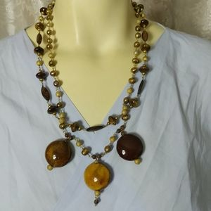 Designer Vintage Porcelain Necklace